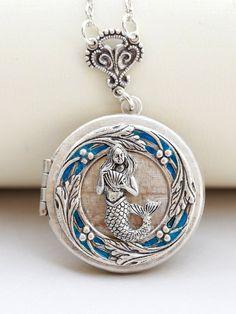 Mermaid LocketJewelry Gift Pendantsomething by emmalocketshop