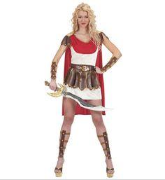 disfraz de princesa guerrera romana incluye vestido con capa cinturon perneras y brazaletes