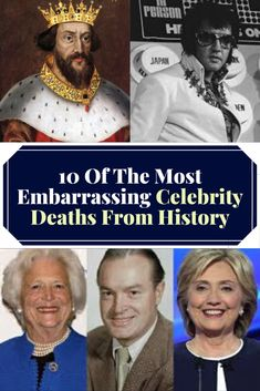 Ironic, shocking, or just plain gross, these embarrassing celebrity deaths from history show that not everyone gets to go out with dignity. Famous Celebrities, Beautiful Celebrities, Celebs, Rules Quotes, Celebrity Deaths, Family Goals, New Pins, Fun Facts, Going Out