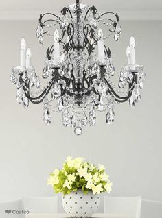 The Esprit chandelier by Pecaso is an elegant touch for your lighting needs. It's classical character, curvaceous quality, and sparkling crystal pieces create a spirited focal point. This richly dressed chandelier adds a considerable level of beauty, function and high quality to your environment.