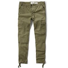 Abercrombie & Fitch Slim Straight Cargo Chinos ($88) ❤ liked on Polyvore…