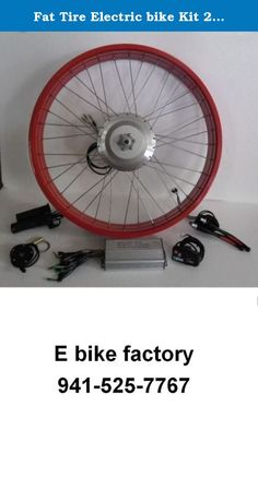 "Fat Tire Electric bike Kit 26""x 4"" 48Volt 1400 W Max. Made in USA Whole Kit red. Very hard to find the E Bike kit for your FAT Tire bike. Here is the high performance Busettii 700 watt 1400 watt Max. power 48 volt KIT made in the USA. WE like to run it at 52 volts for that added JOLT up hills BUT can be run on any battery 46--56 volts as long as the battery is high out put like 25 / 50 amps (25 constant, 50 peak amps) OR higher spec BMS for the battery. Many Chinese Batteries are just 20…"