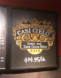 Casi Cielo chalkboard art - Key Tower Starbucks. - StarbucksMelody.