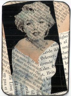 """Marilyn"" - mixed media collage by Joy Northrop"