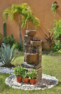 Front Yard Landscaping Ideas - Take these affordable and also easy landscape design ideas for a lovely backyard. Garden Landscape Design, Small Garden Design, Landscape Curbing, Landscape Designs, Landscape Architecture, Amazing Gardens, Beautiful Gardens, Water Features In The Garden, Garden Fountains