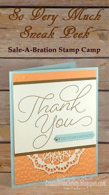 Complete instructions included in post - Stampin' Up! So Very Much handmade thank you card - Sale-A-Bration - SAB - Create With Christy - Christy Fulk, Independent SU! Demo