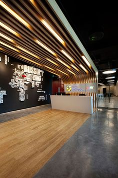 Fun Open Office: GittiGidiyor in Istanbul by OSO Architecture in interior design architecture Category Lobby Design, Design Entrée, Store Design, Design Ideas, Design Blogs, Design Hotel, Open Office, Front Office, Office Floor