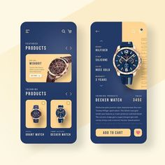 Watch shop app design by Achraf Wydad.⠀ ⠀ – Make Mobile Applications Mobile Ui Design, Ui Ux Design, Interface Design, Application Ui Design, Layout Design, Flat Design, Best App Design, User Interface, App Design Inspiration