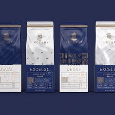 ⠀ ⠀ Speciality Luxury Coffee Brand and New Cafe Experience ⠀ Design Agency: David Espinosa IDS ⠀ Article Name: Speciality Luxury Coffee… Food Packaging Design, Luxury Packaging, Coffee Packaging, Coffee Branding, Branding Design, Chocolate Packaging, Bottle Packaging, Coffee Label, Coffee Cozy
