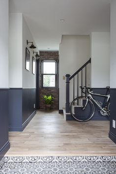 Painted Staircases, Hallway Designs, 1930s House, Cozy House, New Homes, Stairs, Interior, Projects, Room