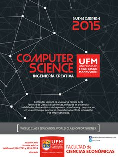 Computer Science es una nueva carrera de la Facultad de Ciencias Económicas enfocada en desarrollar habilidades y herramientas de ingeniería de software y computación, en un entorno que promueve el cuestionamiento, la innovación y la empresarialidad.