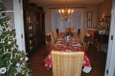 Table set for a holiday dinner with special people this weekend.