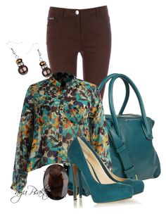 """""""Teal & Brown"""" by ayupsakti ❤ liked on Polyvore featuring Wallis, Maiyet, KUT from the Kloth, Nicholas Kirkwood, Lola Rose, women's clothing, women's fashion, women, female and woman"""