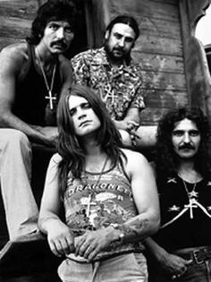 Black Sabbath was formed in 1968 in Birmingham. The members consisted of guitarist Tony Iommi, bassist Geezer Butler, singer Ozzy Osbourne, and drummer Bill Ward Music Love, Music Is Life, Rock Music, 70s Music, Ozzy Osbourne, Great Bands, Cool Bands, Hard Rock, Rock And Roll