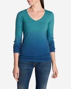 Women's Lookout Dip Dye Long-sleeve Top | Eddie Bauer