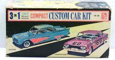 Vintage AMT/SMP '60 VALIANT 9060 ALMOND COLOR 3n1 PLASTIC MODEL CAR KIT 139 1/25…