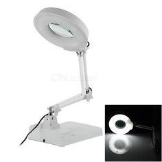 Illuminated 8X Desktop Magnifier (2 Feet Large). Description correction: this product was previous advertised as 8.75-ft large which is incorrect. The actual size is 2 feet large. 11.5mm lens - With 22W round fluorescent lamp; working voltage: 220V. Tags: #Electrical #Tools #Hand #Tools #Magnifiers