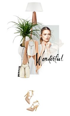"""""""postcard from far away"""" by dear-inge ❤ liked on Polyvore featuring Dot & Bo, Halston Heritage, cutoutdress and persunmall"""