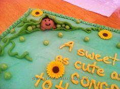 Cute Sweet Pea Baby Shower Cake... Coolest Birthday Cake Ideas