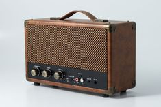 Vintage Brown GPO Westwood Retro Bluetooth Speaker - Sub-woofer -25 watt output