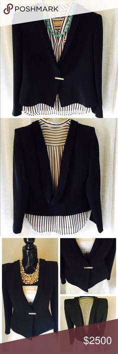 Limited Edition Giorgio Armani Black Blazer Authentic Giorgio Armani black blazer. Only Few in existence. Retailed at $5500. Worn less than 10 times and in Pristine condition. Accepting all offers. No trades please! Giorgio Armani Jackets & Coats Blazers