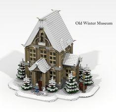 Old Winter Museum. More at Archbrick.com #lego #winter #legobuilding #legoarchitecture #legostagram