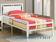 price for Twin Size Bed, White twin kids size bed with full mattress support. Matching full bed, night stand and chest available. x Stand x x x x Full Platform Bed, Upholstered Platform Bed, Leather Headboard, Headboard And Footboard, Bedroom Sets, Bedding Sets, Comforter, Kids Bedroom, Bedroom Decor