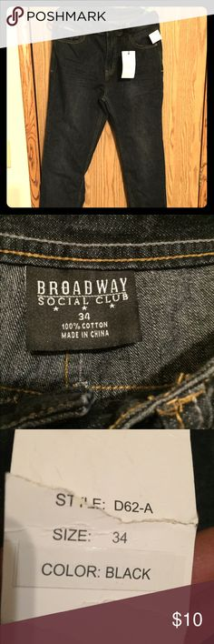 Broadway men's 34 New with tag   jeans size 34 Broadway social club Jeans Skinny