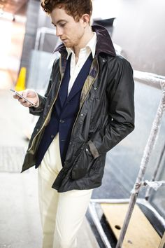 Jake from The Armoury in Barbour SL