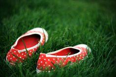 polka dot shoes!