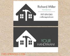 Home Repairs Gold Icons Business Card | Business cards and Icons
