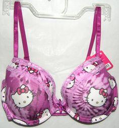 Hello Kitty Bra T-Shirt Style Tie Dye FREE SHIPPING LADIES 34C NWT