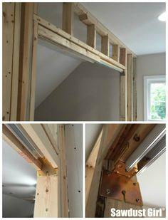 How to install a pocket door frame ~ https://sawdustgirl.com