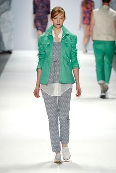 Spring 2012 Trend--Sporty Chic  Richard Chai's athletic-inspired — but still feminine — separates got us psyched to wear windbreakers come spring. Try a brightly hued, lightweight anorak over a breezy printed dress.