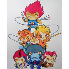 """regram @pingriff This week's wedraw #wedrawthethundercats go check it out on """"vine"""". #wedraw #thundercats #80s #80scartoons #illustration #illustrations #drawing #drawings #artistsoninstagram #art #artwork"""