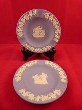 Pair of Blue Wedgwood Jasperware Ashtrays, $15