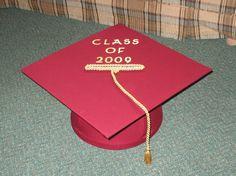 Graduation Cap Card Box.  Clever!