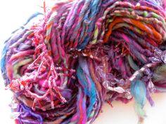 handspun art yarn, India