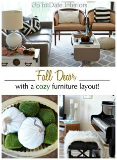 A cozy furniture layout mixed with neutral Fall decor to start the season right!