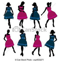 Teenager Illustration Silhouette Great for scrapping
