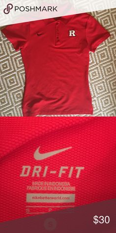 Nike Dri Fit Rutgers Polo Perfect condition Rutgers logo dri fit polo Nike Tops