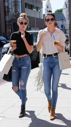 Kendall & Gigi! Hair, belt and sunnies!