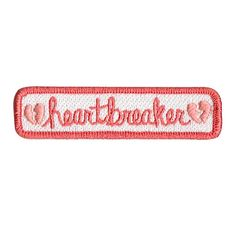 Heartbreaker name tag patch