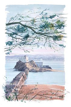 Santander, acuarela, watercolor Grand Canyon, Landscapes, Watercolor, Portrait, Places, Illustration, Nature, Travel, Artists