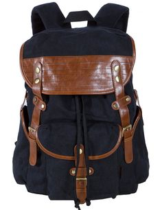 Leaper Causal Style Canvas Laptop Bag/ Shoulder Bag/ School Backpack/ Travel Bag/ Handbag