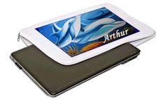 Capa de Notebookfeita em Neoprene branco com ziper, área max da personalização 20x29 cm aprox.