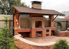 46 ideas for backyard bbq grill pizza ovens Outdoor Kitchen Grill, Outdoor Stove, Pizza Oven Outdoor, Backyard Kitchen, Outdoor Kitchen Design, Backyard Patio, Backyard Landscaping, Indoor Outdoor, Outdoor Kocher