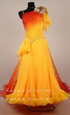 K5513 Sun rise Ballroom Tango Waltz Foxstep salsa dance women dress Tailor made