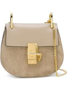 Chloé 'Drew' shoulder bag leather and suede mini