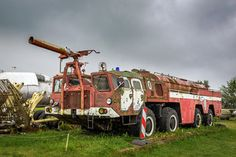 Old abandoned airport firetruck